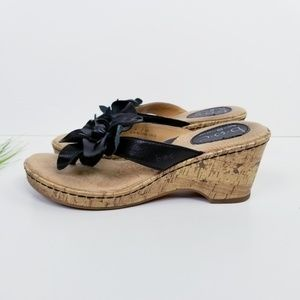 BOC 'Flower' Leather Sandal  VGC